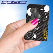 0030 Sticker carte clé losange RENAULT SPORT RS carbone Clio 3 Megane 2 Scenic 2