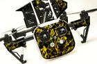 DJI Inspire 1 Quadcopter/Drone, Transmitter, Battery Wrap/Skin | Yellow Flames