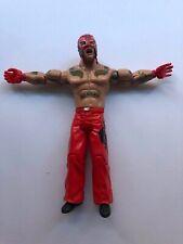 WWE WWF Rey Mysterio Jakks 2005 Wrestling Figure Red Mask + Trousers