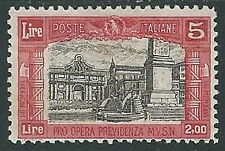 1928 REGNO MILIZIA 5 LIRE MH * - Y056