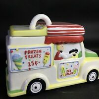 Ice Cream Truck Cookie Jar Frozen Treats I Scream For Summer Ceramic