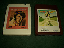 2 Elvis Presley 8 Track Tapes~Welcome To My World~Separate Ways~GREAT CONDITION!