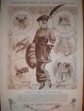 Ladies body dress sash fashion print 1913
