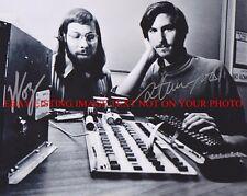 STEVE JOBS AND STEVE WOZNIAK SIGNED AUTOGRAPHED 8x10 RP PHOTO APPLE COMPUTER