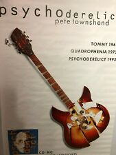 HUGE SUBWAY POSTER Psycoderelic Pete Townshend The Who Rare  1993 Vintage Promo