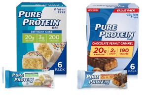 30 Pure Protein Bar Birthday Cake 20g Protein 18ct. & Choc Peanut Caramel 12ct