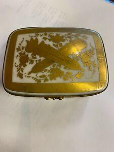 Antique Limoges Porcelain  Trinket  Box napoleon bee