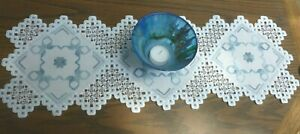 LACEY HARDANGER RUNNER -  with Bling
