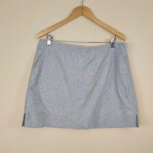 Lady Hagen 100% Cotton Skort Skirt Size 12 Blue Golf Tennis Athletic