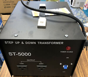 Heavy Duty 5000W Voltage Converter Volt Transformer Step UP/Down 110V⇋220V NEW