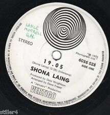 SHONA LAING 19.05 *NEW ZEALAND 70s SWIRL VERTIGO LABEL SINGLE*