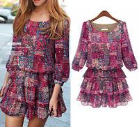 Womens Top Casual Party Club Dress Clubwear UK Size 12 14 16 18 20 22 24 #9001N