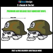 Metal Mulisha Skull Decal 160mm x 130mm x 2 Moto Motorcross MX racing sticker