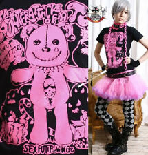 JAPAN KERA Punk NEON PINK TEAR CUB TEDDY BEAR TEE M/L