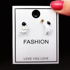Asymmetric Studs Earrings Chic Jewelry W 1 Pair Cute Star Astronaut Earring