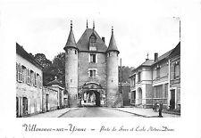 Br11762 Villeneuve sur Yonne Porte de sens et ecole france real photo