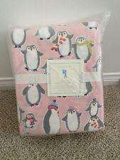 Pottery barn kids Pink penguin flannel Full Sheets New