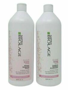 Matrix Biolage Sugar Shine Shampoo & Conditioner 33.8 oz/Liter Duo