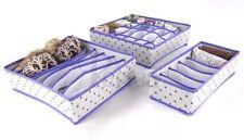 Periea 3 Pack Storage Solution Box Wardrobe Organiser Drawer Divider Socks Bra