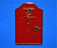 LACOSTE CLOTHING - RED SHIRT WITH CROCODILE LOGO - VINTAGE LAPEL PIN - PINBACK