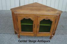 New listing 60632 Oak Corner Curio Cabinet Television Stand