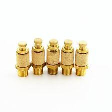 """5pcs Pneumatic Brass Flow Control Silencer NPT 1/4"""" Air Exhaust Muffler Fitting"""