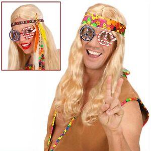 HIPPIE USA PEACE BRILLE # 70er Jahre Damen Herren Hippiebrille Peacebrille 6617
