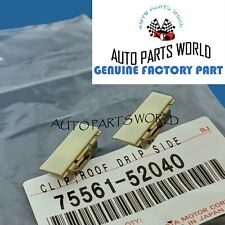 GENUINE TOYOTA AVALON xB xD iQ CT200h IS250/350 ROOF DRIP MOLDING CLIPS SET OF 2