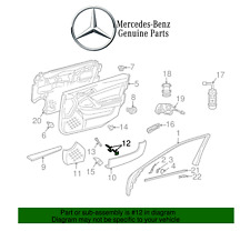 NEW Mercedes W203 C-Class V6 Gas Passenger Right Pull Handle Orion Gray Genuine