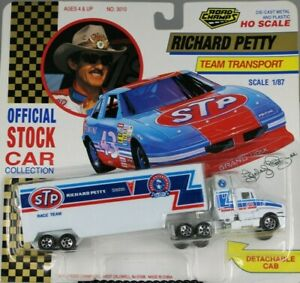RICHARD PETTY OFFICIAL STOCK CAR COLLECTION TRACTOR TRAILER TEAM TRANSPORT 1/87
