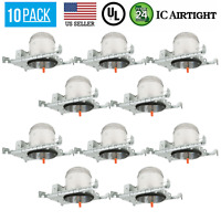 10 PACK 6-INCH NEW CONSTRUCTION CAN AIR TIGHT HOUSING RECESSED LED LIGHT