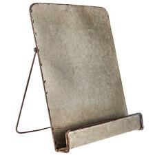 Galvanized Metal  Reading Rest Cookbook Cook Book Stand Holder Tablet Holder