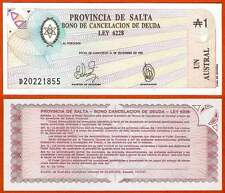 Ps2612  Argentinien / Prov. d. Salta 1 Austr  1987  UNC