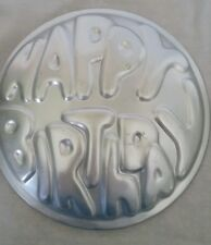 Vintage Wilton HAPPY BIRTHDAY Cake Pan Form Aluminum 1975  503-611 Perfect