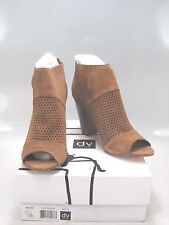 DV by DOLCE VITA Womens MARANA Brown Suede Open Toe Bootie Size US 10M
