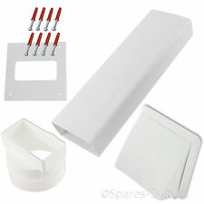 ZANUSSI Wall Vent Kit Vented Tumble Dryer Hose External Pipe White Cowl Duct 4""