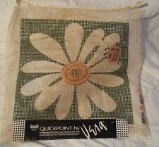 Vintage Vera Quickpoint Scovill Daisy Ladybug Pillow Canvas Latch Hook New