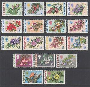 Bermuda Sc 255-271 MNH. 1970 Flowers, complete set of 17, fresh, bright, VF