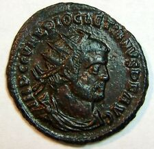 DIOCLETIAN Æ ANTONINIANUS. VERY RICH DETAIL. PATINA SHINES LIKE PITCH BLACK ICE.
