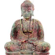 "8"" Volcanic Stone MEDITATING BUDDHA Statue/Incense Burner!"
