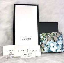 New Gucci Card Case Supreme Bloom Place Blue Navy