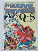"Official Handbook of the Marvel Universe #9 ""Q-S"" Sept. 1983 Marvel Comics"