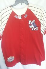 Disney Store Jersey Med Red Mickey Mouse Baseball Jersey Embroidered Vtg