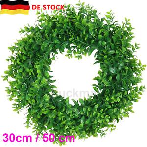 30/50cm Dekor Kranz Künstliche Buchsbaumkranz Grüne Blätter Haustür Im Freien DE