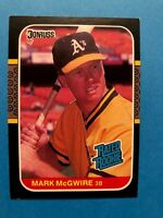 1987 Donruss Mark McGwire Oakland Athletics #46 Baseball Card