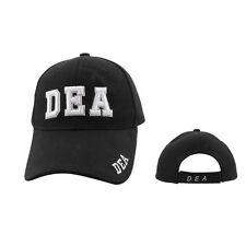 DEA Black Baseball Cap, Hat Drug Enforcement Administration, costume CAP #29