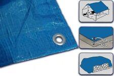 Tarpaulin Waterproof - Heavy Duty Strong Light Weight Ground Sheet Cover Blue 8m X 12m