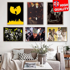Wu-Tang Clan American East Coast Hip Hop Best Print Poster Wall Art Picture A4+