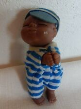 "Vintage 1984 Baby Rascals 3 1/2"" Black Baby Doll Praying?"