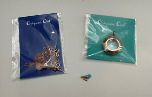 """Origami Owl Mini Rose Gold Locket & 16-18"""" Cable Chain + Blue Bird Charm - NEW"""